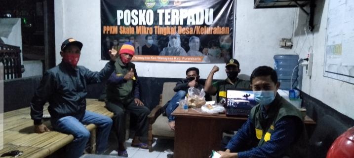 ANTUSIASME PIKET PPKM DI POSKO COVID-19 DESA WANAYASA.